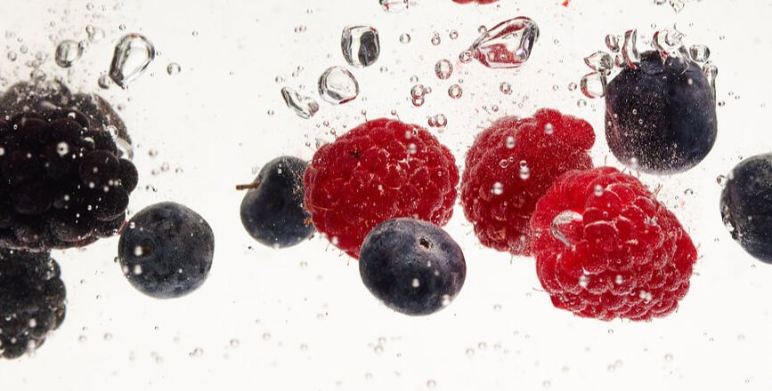 Fruits in Sparkling Water