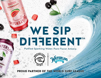 The Official Sparkling Water of World Surf League